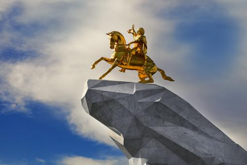 Monument To President Of Turkmenistan Gurbanguly Berdimuhamedov Stock Photo  - Download Image Now - iStock