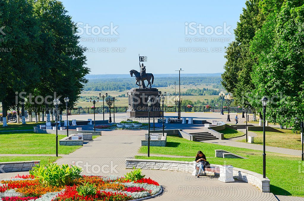 Monument to Prince Vladimir and holy hierarch Feodor, Vladimir, Russia stock photo