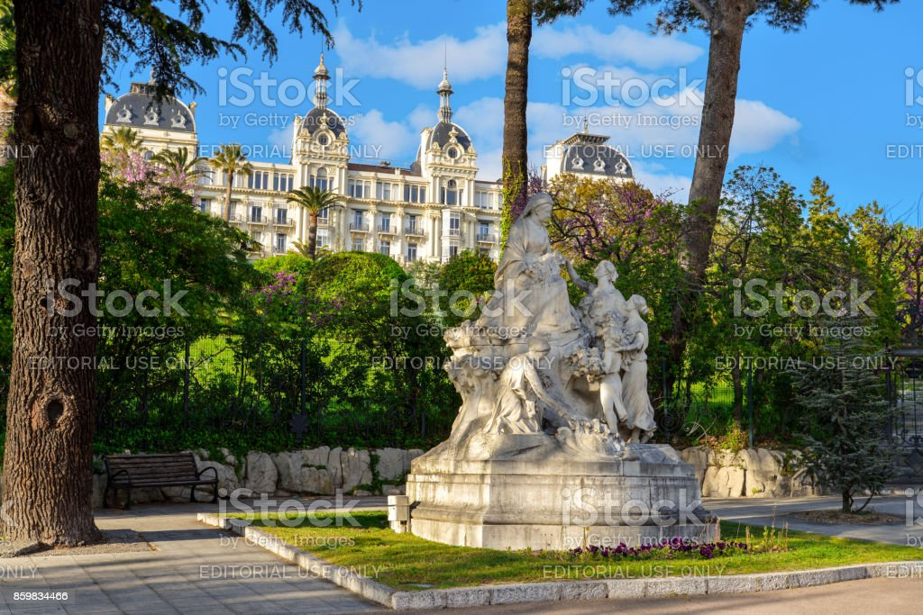 Monument to Queen Victoria in Nice stock photo