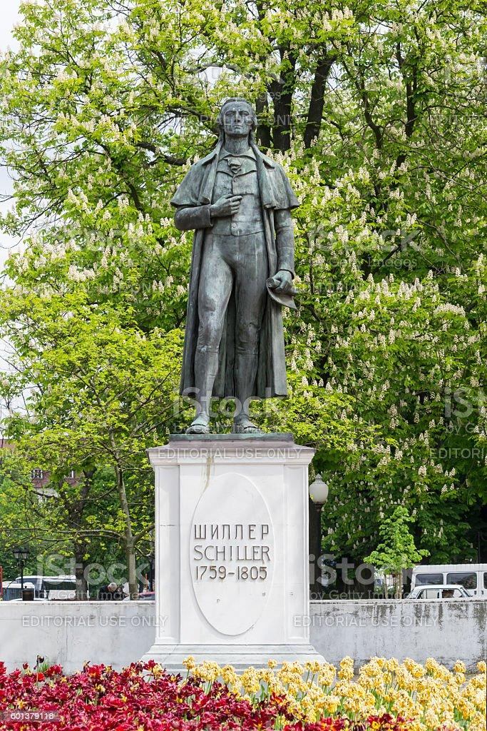 monument to Schiller stock photo