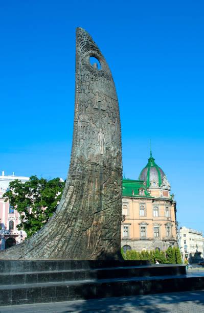 Monumento a Taras Shevchenko de Lviv - foto de stock