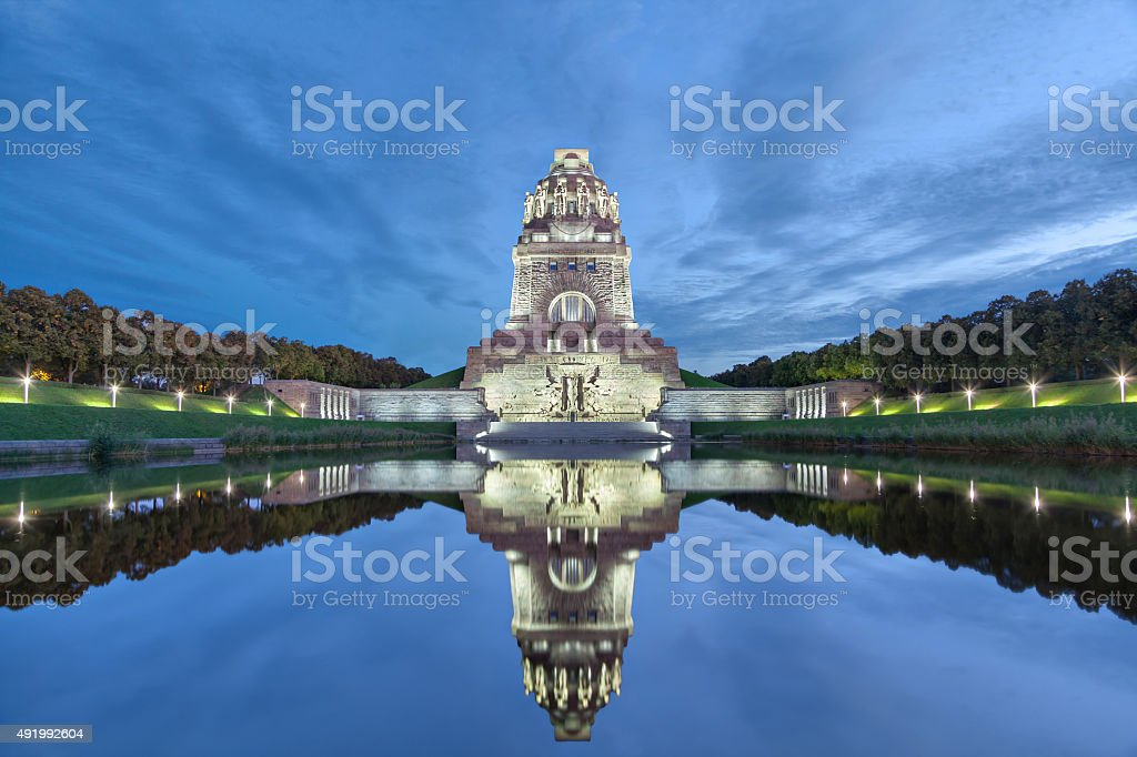Monument to the Battle of the Nations in Leipzig stock photo