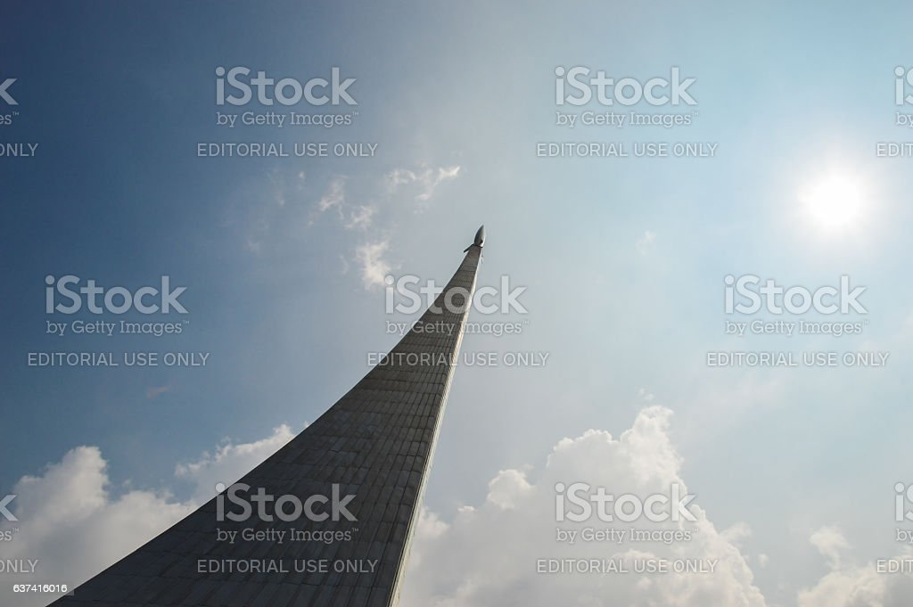 Monument to the Conquerors of Space stock photo