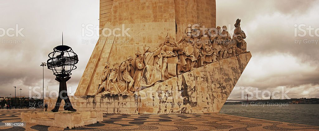 Monument to the Discoveries in Lisbon. royalty-free stock photo