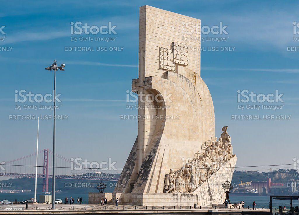 Monument to the Discoveries.  Lisbon. stock photo