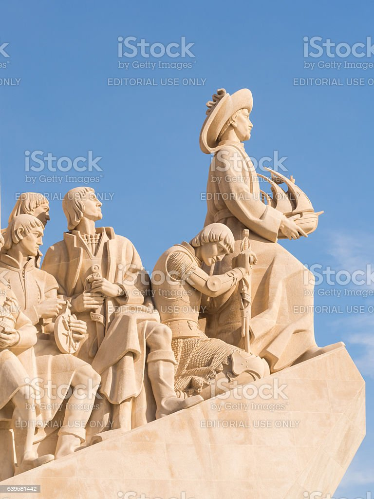 Monument to the Discoveries of the New World in Lisbon stock photo