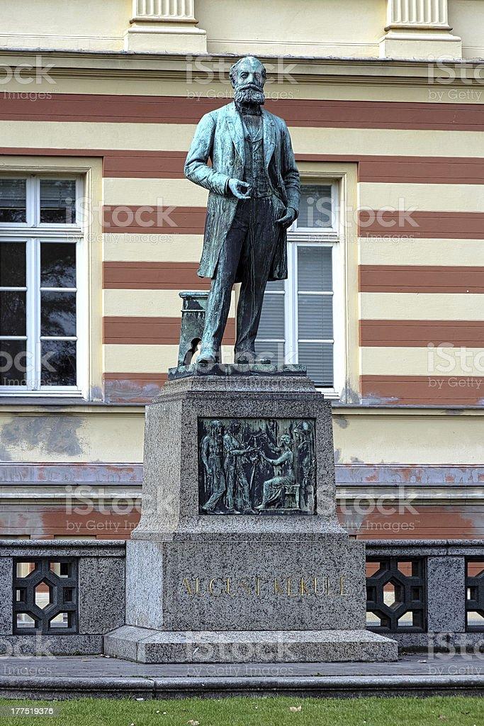 Monument to the german chemist August Kekule in Bonn, Germany stock photo
