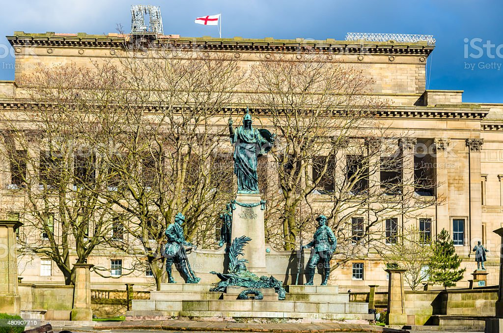 Monument to the King's Liverpool Regiment - England stock photo