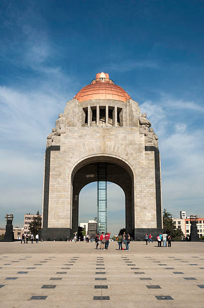 Monument to the Mexican Revolution stock photo