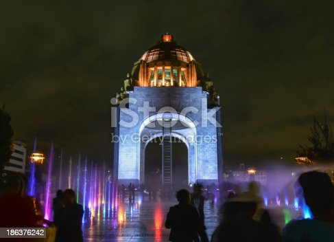 Monument to the Mexican Revolution (Monumento a la Revolución Mexicana). Located in Republic Square, Mexico City. Built in 1936. Designed in the eclectic Art Deco and Mexican socialist realism style.