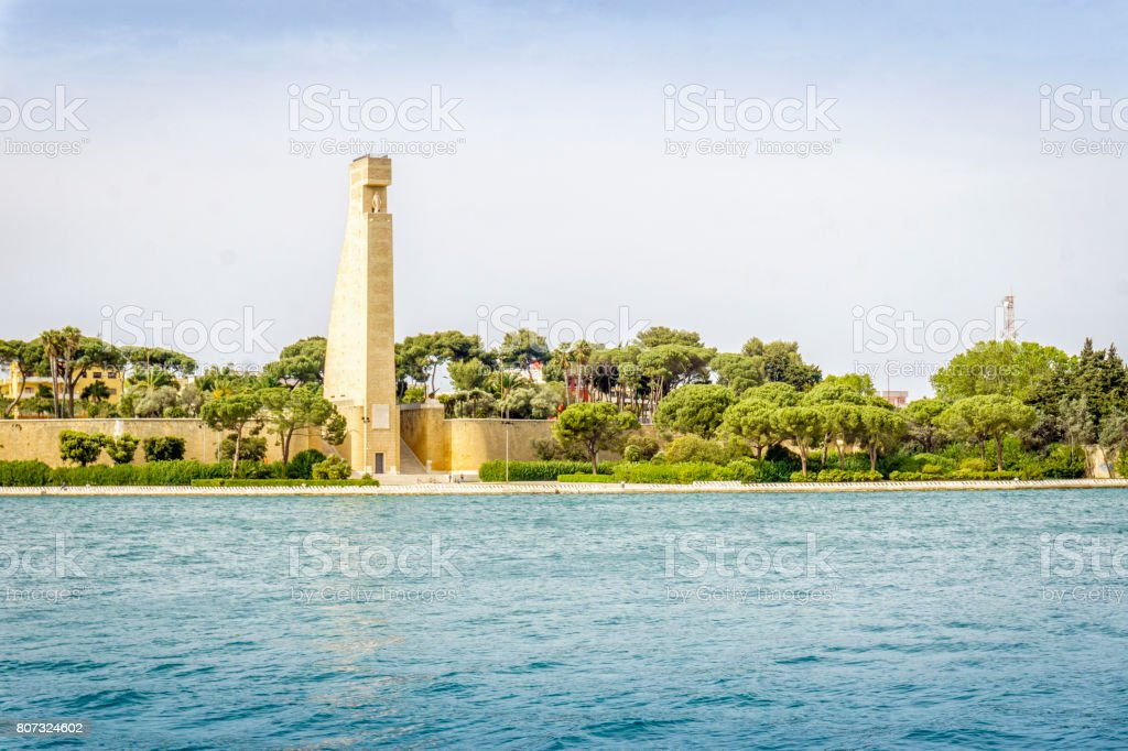 Monument to the Sailor of Italy, Brindisi, Puglia, Italy stock photo