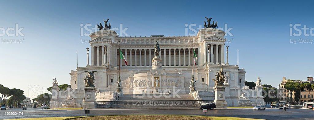 Monument to Vittorio Emanuele II, Piazza Venezia, Rome royalty-free stock photo