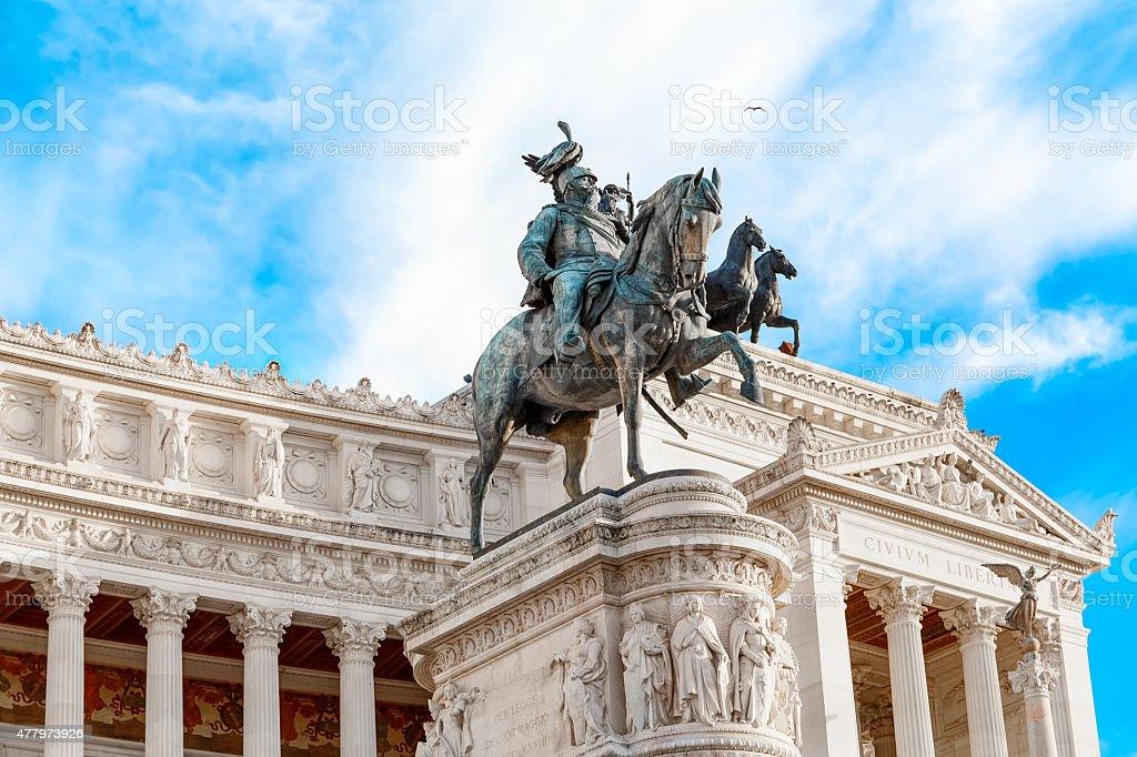 Monument to Vittorio Emanuele ii stock photo