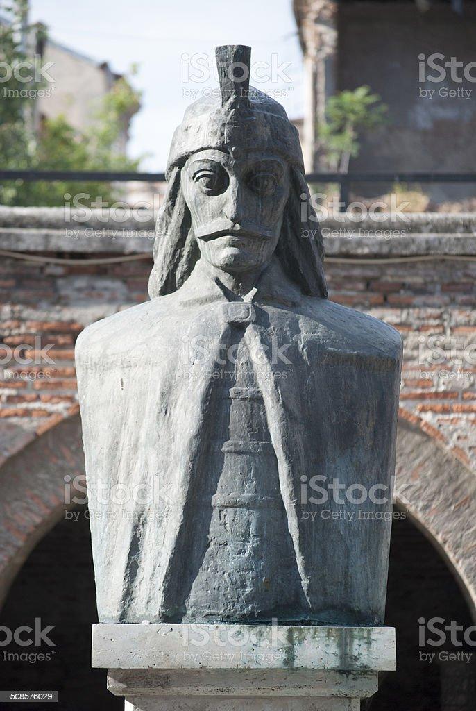 Monument to Vlad III the Impaler stock photo
