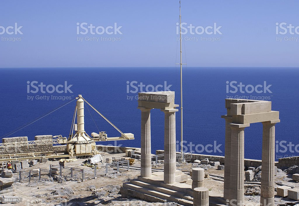 Monument under construction royalty-free stock photo
