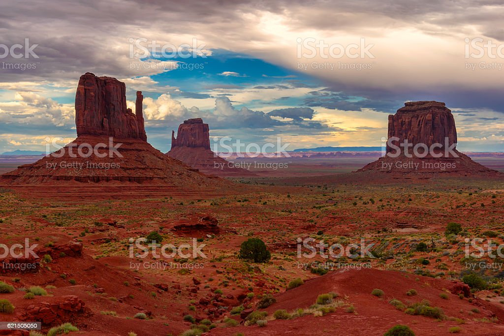 Monument Valley after sunset, Utah foto stock royalty-free