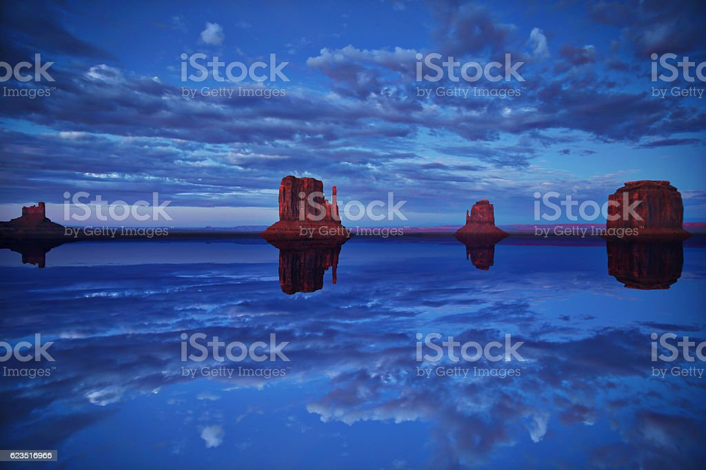 Monument Valley After The Flood stock photo