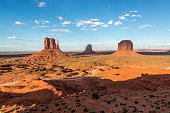 Monument Valley At Sunset.
