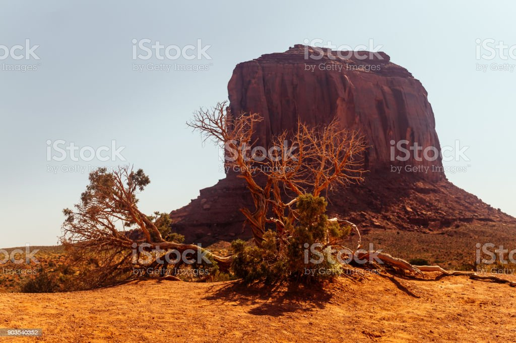 Tourist attraction of the Southwest of the USA. The Monument Valley...