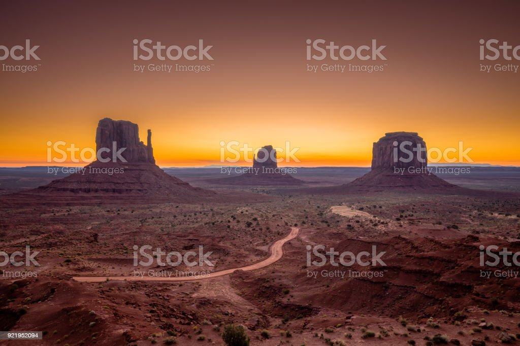 Monument Valley at sunrise, Arizona, USA royalty-free stock photo
