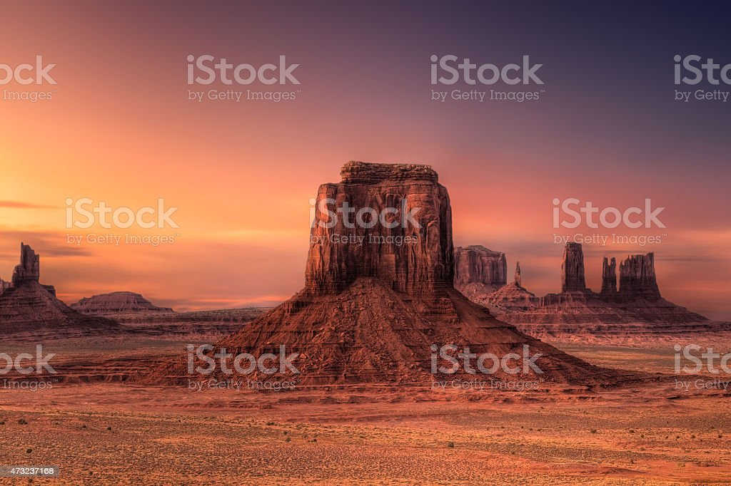 Monument Valley Butte stock photo