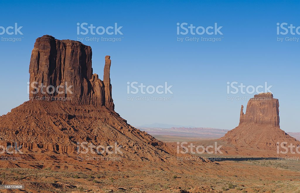 Monument Valley buttes royalty-free stock photo