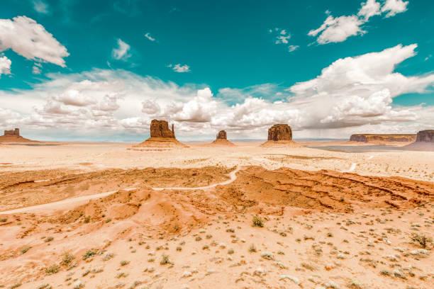 Monument Valley desert in southwest USA stock photo