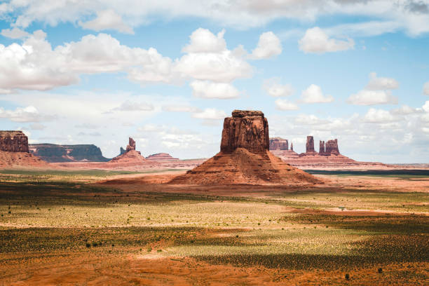 Monument Valley desert landscape stock photo