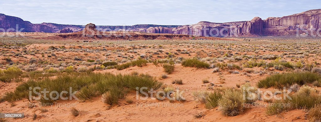 Monument Valley Desert Panorama royalty-free stock photo