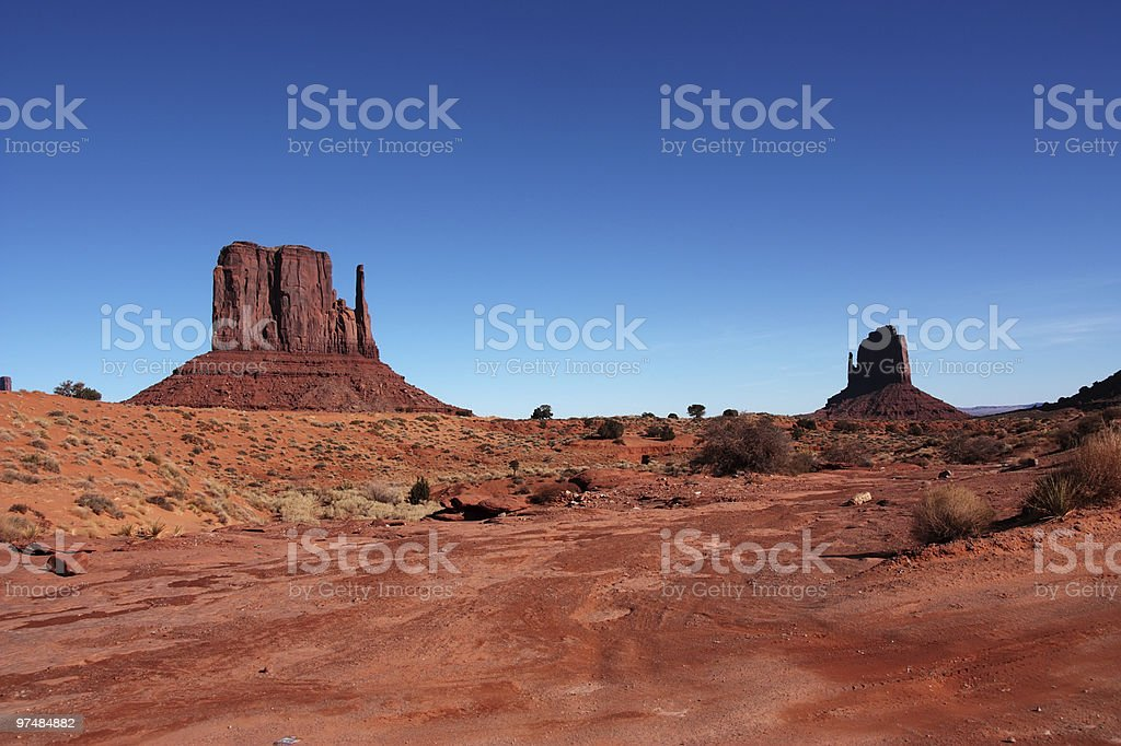 Monument valley detail 3 royalty-free stock photo