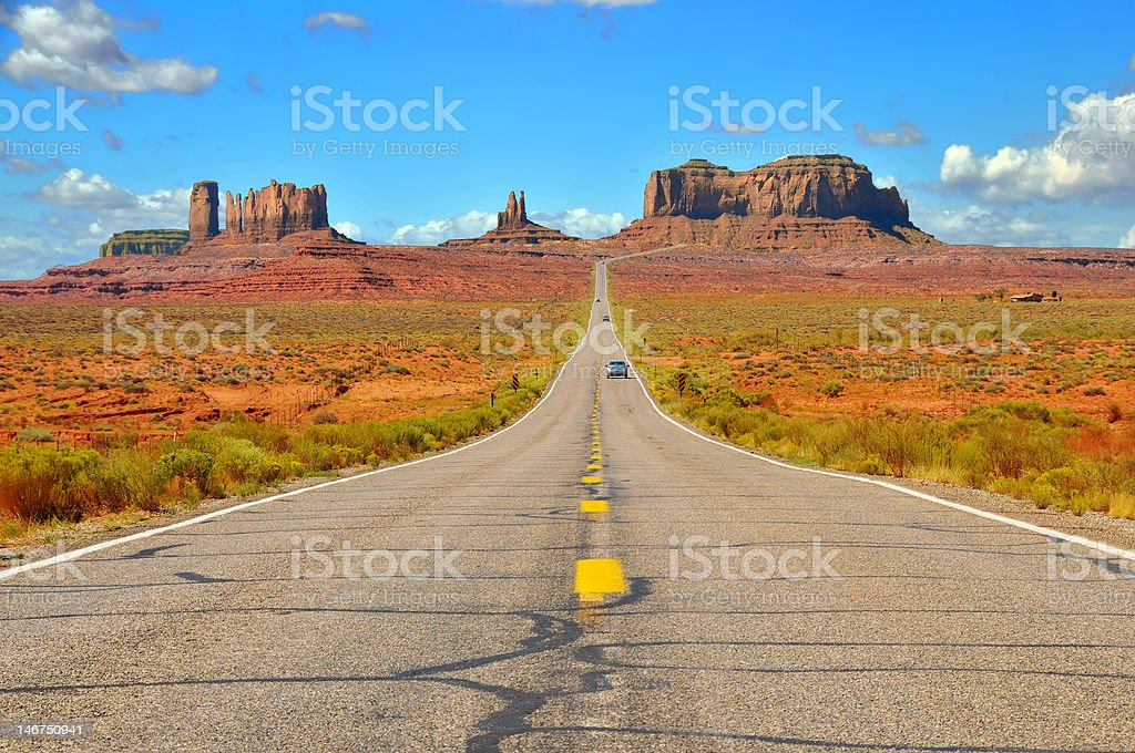 Monument Valley Highway stock photo