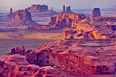 View towards Monument Valley from the US Route 163 in Utah.