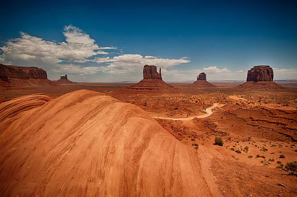 Monument Valley in Arizona stock photo