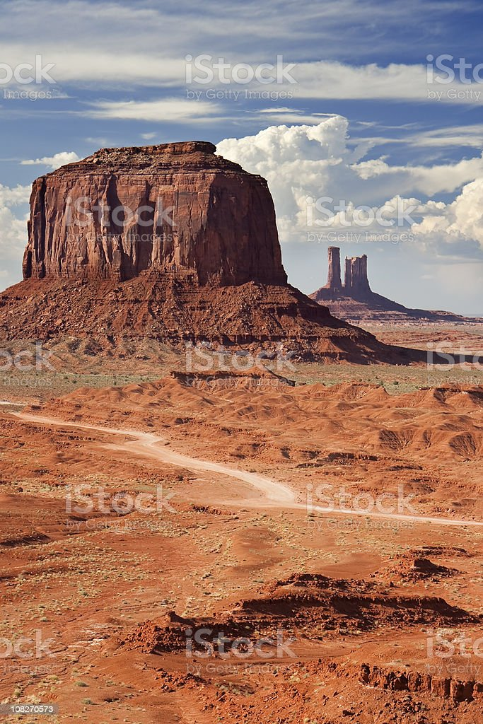 Monument Valley in Arizona, USA on a sunny day