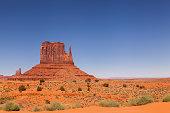 paisaje desértico del Monument Valley en Arizona