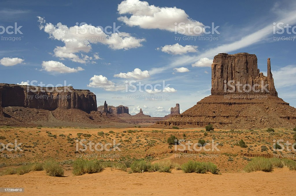 Monument Valley Navajo National Park Utah USA royalty-free stock photo