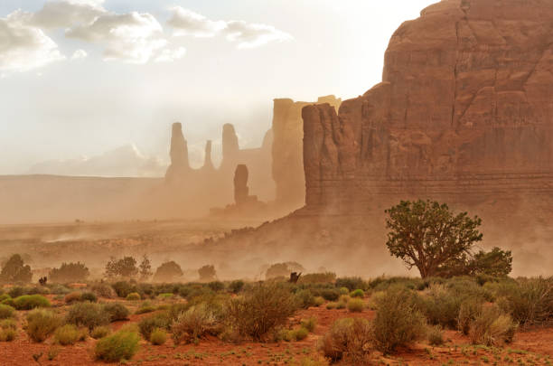 monument valley. navajo tribal park, usa. - native american reservation stock photos and pictures