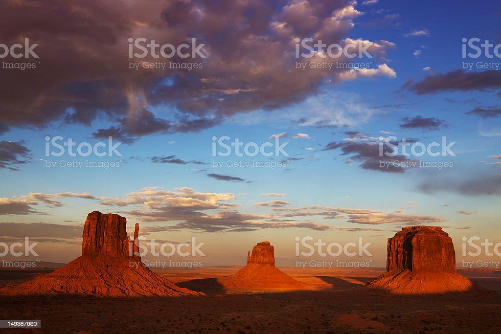 Monument Valley, Navajo Tribal Park, Utah-Arizona royalty-free stock photo