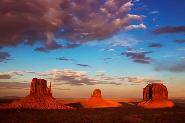 Monument Valley, Navajo Tribal Park, Utah-Arizona stock photo