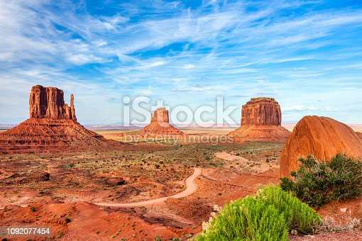 Monument Valley on the Border between Arizona and Utah, United States