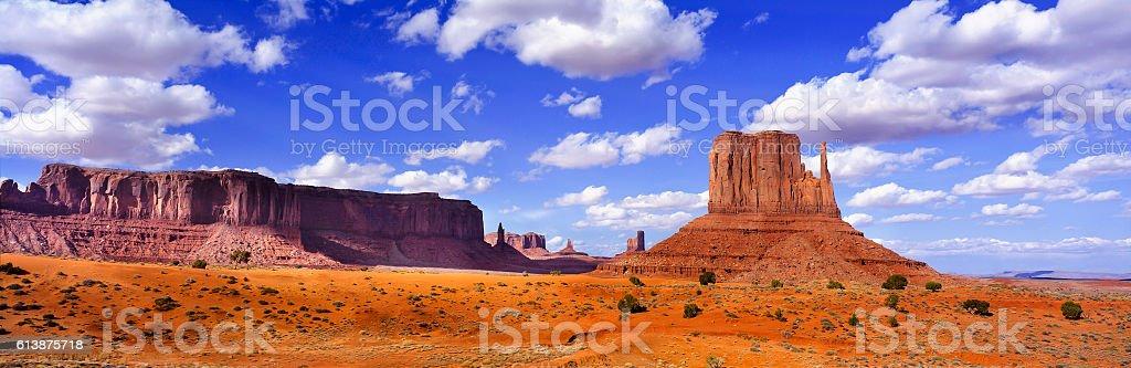 Monument Valley Panoramic stock photo