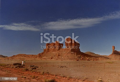 Image showing a Monument Valley outcropping showing size against people standing nearby