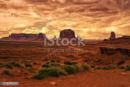 An amazing view at the John Ford's point in Monument Valley in Arizona