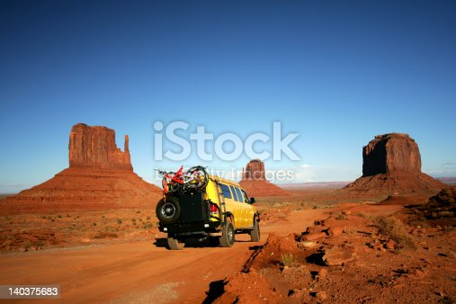 Yellow Van in Monument Valley