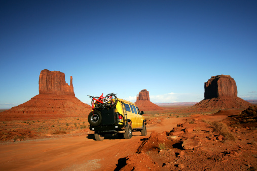 Yellow Van in Monument Valley