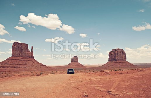 Car driving in Monument Valley