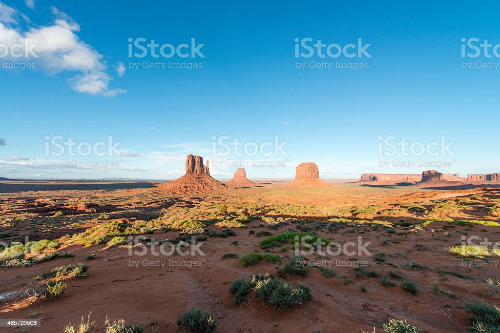 Monument Valley National Park rock formations are some of the most...