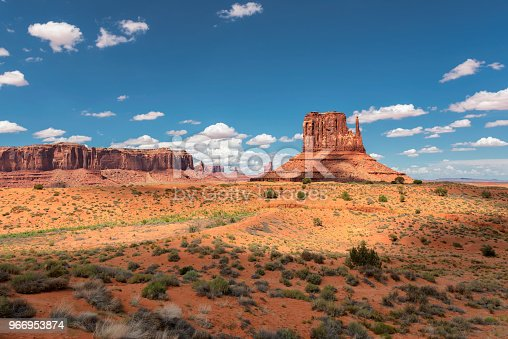 The unique landscape of Monument Valley, Navajo Tribal Reservation, Arizona - Utah, USA.