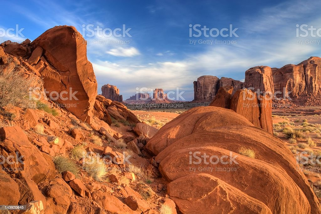 Monument Valley Scene royalty-free stock photo