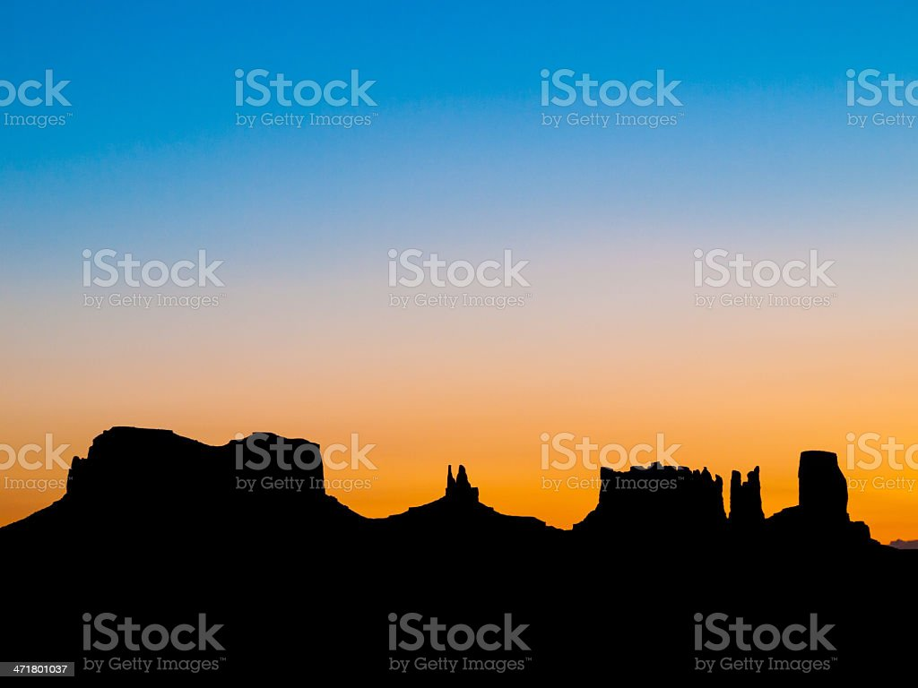 Monument Valley Silhouette royalty-free stock photo